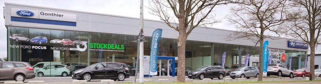 <p>Ford : samenvoeging van de dealerships Gonthier Kontich en Ford Mechelen en Hyundai Moorkens Kontich.</p>