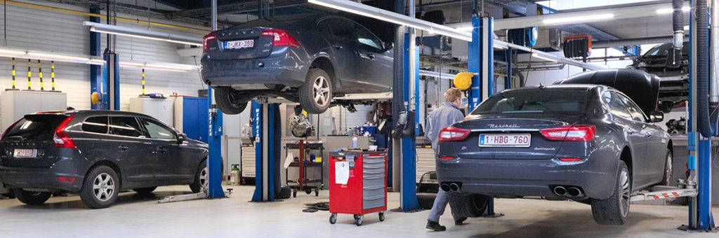 <p>Bijkomende gemengde Volvo-Maserati werkplaatsen.</p>