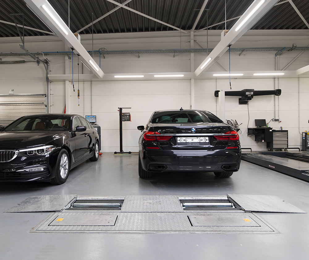 <p><strong>Beissbarth</strong> teststraat met BMW homologatie.</p>