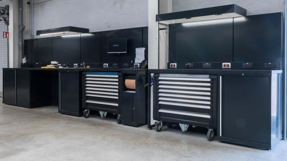 <p><strong>Magrini</strong> werkplaatskasten, opbergboxen voor gereedschapswagens, elektriciteit en verlichting.</p>